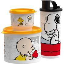 Tupperware - 3 Vasilhas Snoopy E Charlie Brown