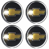 Jogo Emblema Chevrolet Botom Para Calota Roda Esportiva 48mm
