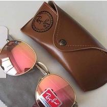 Óculos Redondo 3447 Round Rosa Espelhado John Lennon Rose