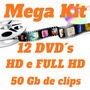 Aberturas De Video E Backgrounds Em Hd E Full Hd -12 Dvd´s