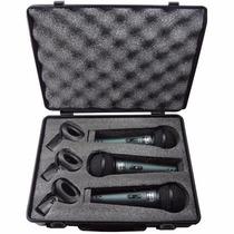 Maleta Kit 3 Microfones 3 Cachimbos Profissionais Mxt Bt58a