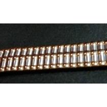 Pulseira Elástica Dourada Relógios Vários - Antigos 17/18mm