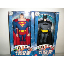 2 Bonecos (superman+batman) Liga Da Justiça *25cm* Mattel*dc