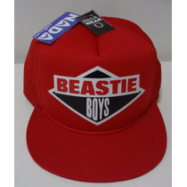 Boné Beastie Boys Aba Reta Vermelho Trucker Cap Tela