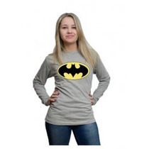 Camiseta Batman Feminina, Manga Longa Com Vários Tamanhos