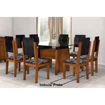 Mesa De Jantar Esmeralda Com 8 Cadeiras 100% Mdf