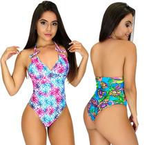 a8689c757117 Maiô Feminino Estampado Lycra Bojo Moda Praia Verão Trend à venda em ...