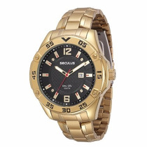 Relógio Masculino Seculus 23494gpsvda1 Dourado Extra Grande