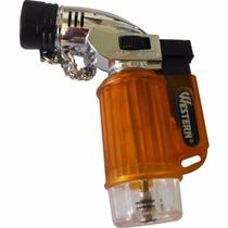 Mini Maçarico Recarregável Gás Butano Isqueiro Automatico