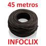 Cabo Rede Cat5e Preto 45m Metros Internet Net Lan Montado