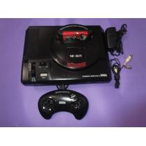 Mega Drive 2 -controle Original+ 04 Fitas De Brinde-tudo Ok!