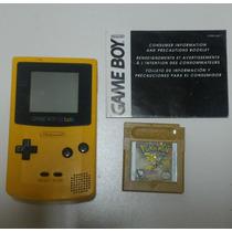 ° Game Boy Color Amarelo+ Pokemon Gold Original Salvando °