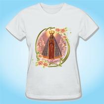 Camiseta Baby Look Nossa Senhora Aparecida Religiosa Igreja
