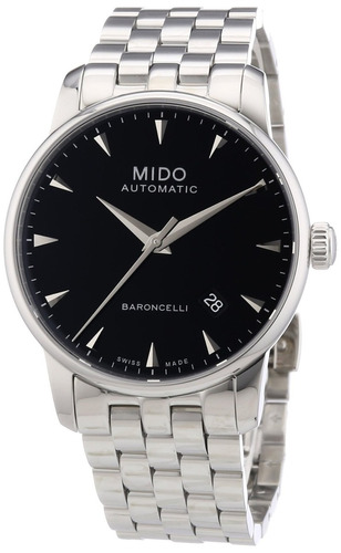 2612adaa965 Relógio Mido Baroncelli M86004181 Automatico 38mm Preto Aço