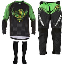 Kit Conjunto Calça Camisa Pro Tork Insane 5 Motocross Top