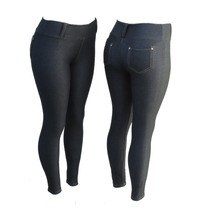 Kit C/ 5 Calça Legging Malha Jeans (imita Jeans)