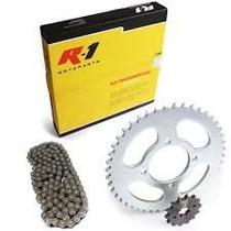 Kit De Transmissão Relação Completa Shineray Xy 50 Rba Moto
