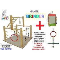 Kit Superior Calopsita Feliz Playground Natural + Brinquedo