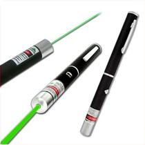 Caneta Laser Pointer Verde 5000mw + Ponteiras + Pilhas