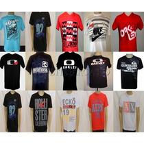 Kit C/ 50 Camisetas De Várias Marcas Variadas Varejo Atacado
