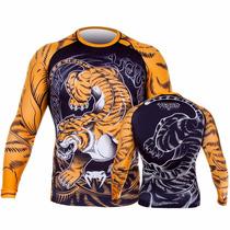 Rash Guard Venum Tiger -lycra - Mma-ufc- Jiu Jitsu - Treino