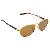 Óculos Feminino Oakley Tie Breaker Satin Gold Polarizado