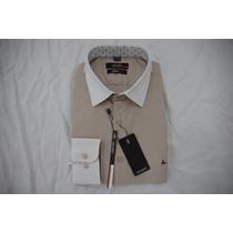 Camisa Social Masculina Aramis , Cor Branco Navajo Branco