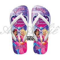 Sandálias Chinelo Havaianas Personalizadas Barbie