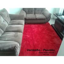 Tapete Vermelho Peludão - 2,00x2,40 - Frete Grátis