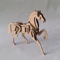 Quebra Cabeça 3d - Coleção Animais - Cavalo Mdf