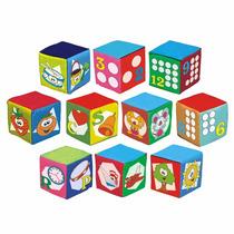 Conjunto Cubos Educativos Com Som, Educativo, Escolar C/nf