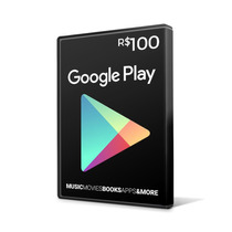 Cartão Google Play Gift Card 100 Reais Br Android Playstore