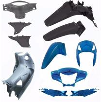 Kit Carenagem Completo Biz 125 Ks Es Ano 2006 Azul Metalico