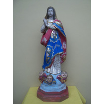 (sergioschw) Imagem Nossa Senhora Conceição Madeira 65 Cm