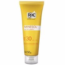 Protetor Solar Roc Minesol Actif Fps 30 - Gel Creme 50g