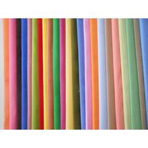 Super Kit Tecido Algodão Patchwork - 25 Cores Liso - L25a