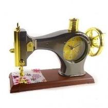 Relógio De Mesa Maquina De Costura Enfeite Design Lindo