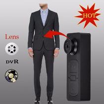 Câmera Botão Micro Espião Vídeo Audio Alta Resolução