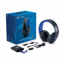 Headset Fone Sony Wireless Stereo Gold - Ps3, Ps4 E Ps Vita