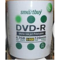 100 Dvd-r Smartbuy Printable 16x Dvd R Virgem Dvd -r - R