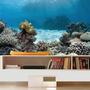 Adesivo Peixe Aquário Decoração Painel Fundo Do Mar Mod06