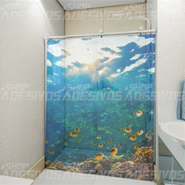 Adesivo Decorativo Para Banheiro Box E Vidro 3d Fundo Do Mar