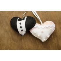Lembrancinha De Casamento Chaveiros Noivinhos Coração