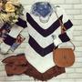 Blusa De Frio Bico Bicuda Trico Croche Tricot Casaco