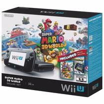 Nintendo Wii U Set Deluxe 32gb Novo, Lacrado! Mario 3d World
