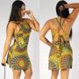 Vestido Godê Casual Estampado Barato Da Moda Sabrina Sato