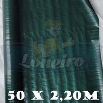 Bobina Rolo Lona Plástica Verde Escuro 50x2,20 Mt 300 Micras