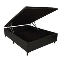 Base Cama Box Com Baú Casal Reforçada