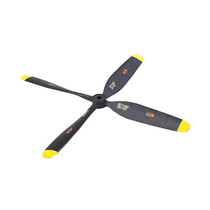 Helice 10x8 4 Blade P51 Mustang Amarelo - Durafly