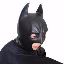 Máscara Batman Latex Heroi Liga Da Justiça - Envio 24h